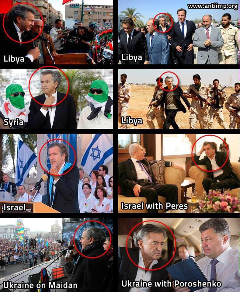 Bernard-Henri Lévy - Agent of Israel | The photo dossier - Radio Islam