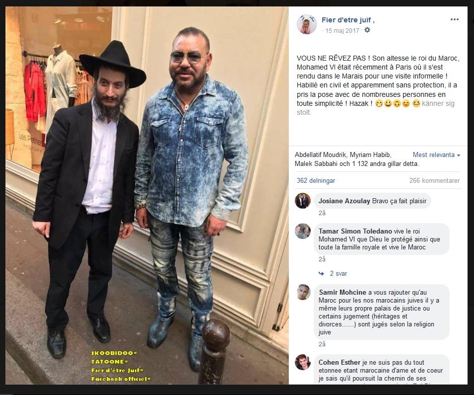 עשרות אלפי אנשי עסקים ישראלים כבר מושקעים במרוקו וההסתערות על מרוקו רק מתגברת Mohammed6-morocco-jew-paris-facebook-2017